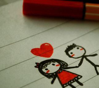 Обои на телефон всегда, сердце, рисунки, пара, любовь, вместе, love, blush