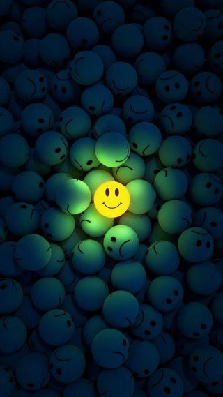 Обои на телефон happy, hd, plenty, темные, счастливые, желтые, свет, грустные, смайлики