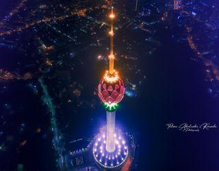 Обои на телефон шри ланка, лотус, рождество, городской пейзаж, город, буквы, башня, lotustower, lotus tower, droneshot, colombo, citiscape