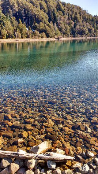 Обои на телефон озеро, природа, вода