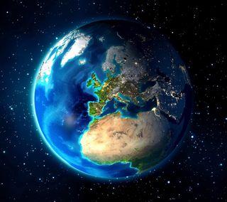Обои на телефон планета, космос, земля