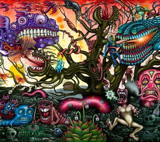 Обои на телефон цветные, мультики, арт, monster, darkdroid, art