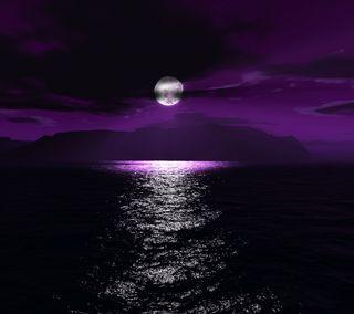 Обои на телефон океан, лунный, луна, вода