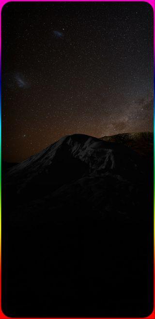 Обои на телефон туманность, радуга, граница, горы, галактика, s8 wallpaper hd, s8 wallpaper, s8, rainbow border, galaxy s8, galaxy