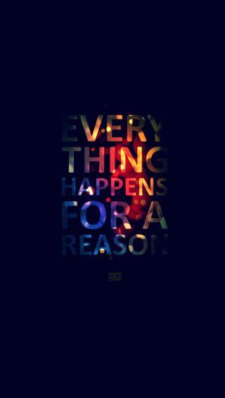 Обои на телефон цитата, знаки, высказывания, everything happens