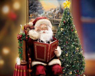 Обои на телефон санта, рождество, дерево