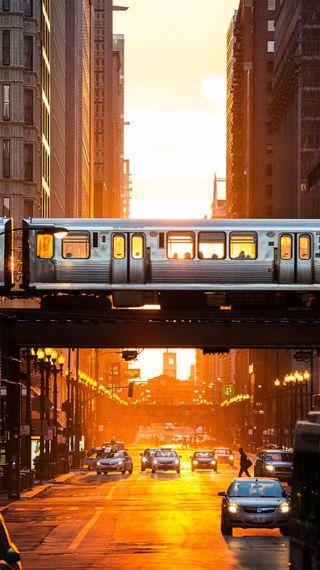 Обои на телефон городские, улица, солнце, машины, жизнь, город, city street urban