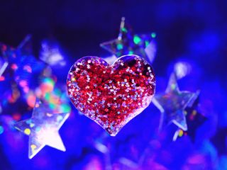 Обои на телефон hd, love, любовь, синие, красочные, рождество, звезды, сердце, боке