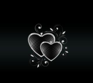 Обои на телефон флирт, черные, сердце, романтика, приятные, новый, любовь, дизайн, арт, love, art