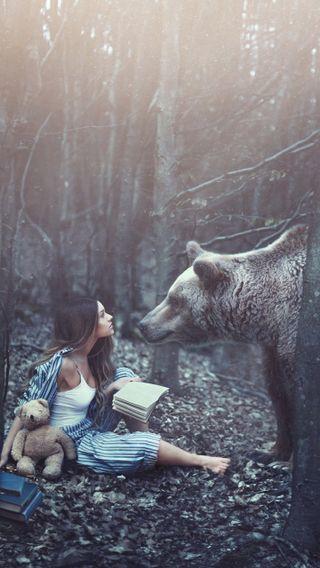 Обои на телефон медведь, прекрасные, животные