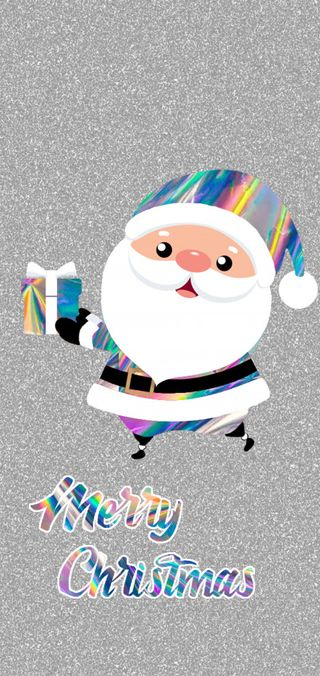 Обои на телефон санта, счастливое, рождество, tornasol, papa noel, melesao, iridescence, feliz navidad