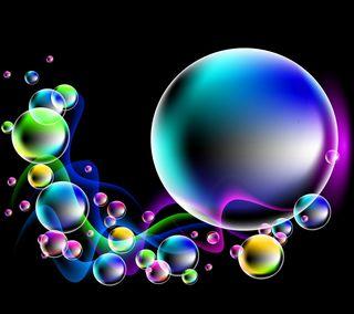 Обои на телефон сверкающие, пузыри, неоновые, красочные, капли, абстрактные