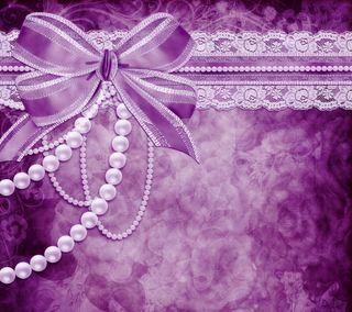 Обои на телефон лук, цветочные, фон, фиолетовые, романтика, жемчуг, дизайн, винтаж, абстрактные, purple romance, floral background