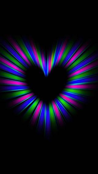 Обои на телефон цветные, сердце, heart color full