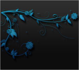 Обои на телефон цифровое, черные, цветы, синие, дизайн, векторные, арт, абстрактные, art