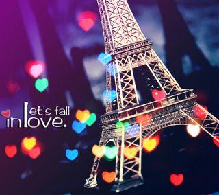 Обои на телефон эйфелева башня, символ, сердце, париж, пара, осень, любовь, красочные, башня, love symbol, lets fall in love