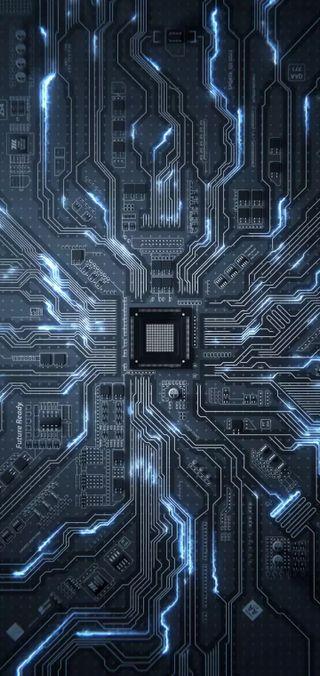 Обои на телефон микросхема, компьютер, computer chip