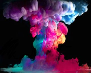 Обои на телефон дым, цветные, радуга, приятные, крутые, красочные, colorful smoke