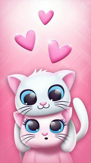 Обои на телефон злые, милые, любовь, кошки, pie, love