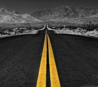 Обои на телефон путь, пустыня, дорога, горы, the road