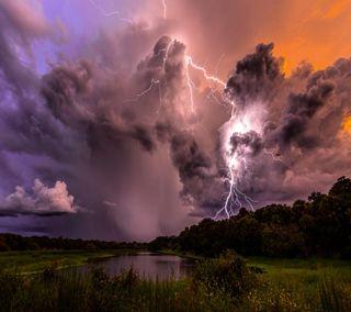 Обои на телефон взгляд, приятные, прекрасные, облака, молния, милые, lightning clouds