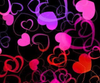 Обои на телефон день, шаблон, сердце, розовые, любовь, абстрактные, pattern heart, love, 960x800px
