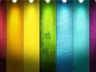 Обои на телефон желтые, эпл, фиолетовые, синие, радуга, красые, красочные, зеленые, айфон, iphone, apple