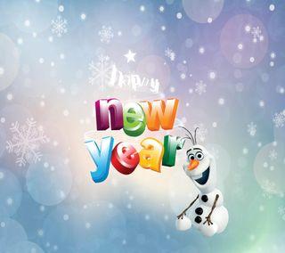 Обои на телефон год, холодное, счастливые, снег, олаф, новый, зима, дисней, happy, disney