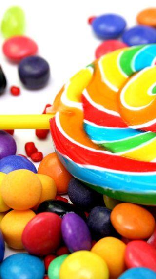 Обои на телефон цветные, сладости, красочные, конфеты, еда, lollipop