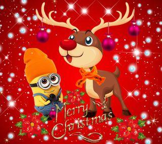 Обои на телефон счастливое, рождество, мультики, 1440x1280px, minionchristmas, merry christas