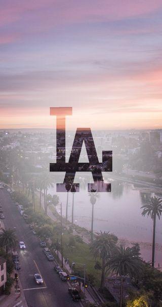 Обои на телефон город, логотипы, los santos, lago, eua, calle, atardercer, aeroplanes