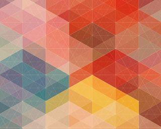 Обои на телефон геометрические, цветные, дизайн, squren design, 2013
