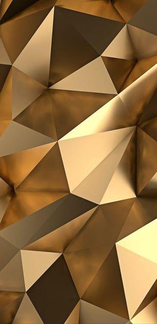 Обои на телефон треугольник, золотые, абстрактные