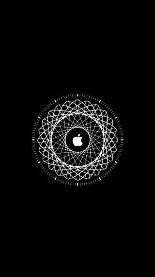 Обои на телефон мандала, эпл, черные, темные, логотипы, айфон, iphone, ios, apple, amulet, 6s