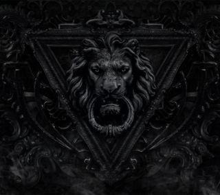 Обои на телефон готические, темные, орнамент, лев, кольцр, дверь, готы, ворота