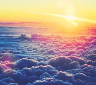 Обои на телефон шторм, солнце, радуга, природа, облака, ночь, луна, дождь, above the clouds
