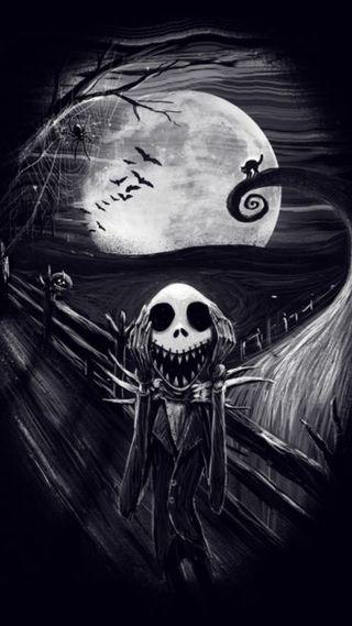 Обои на телефон джек, хэллоуин, skellington, scream, jacks scream, halloween jack