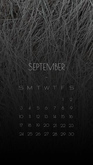 Обои на телефон сентябрь, календарь, sept, hay