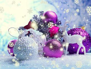 Обои на телефон украшение, фиолетовые, счастливое, рождество, безделушки, purple baubles