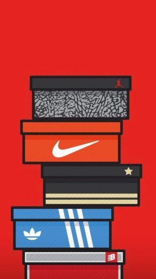 Обои на телефон коробка, супер, кроссовки, баскетбол, box sneakers, 2017
