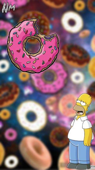 Обои на телефон пончик, гомер, симпсоны, los simpsons, dona