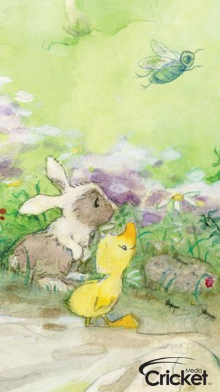Обои на телефон утка, дети, кролик, крикет, весна, illustrations, childrens, bunny and duck