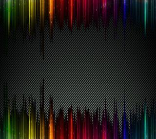 Обои на телефон волокно, радуга, линии, карбон, абстрактные
