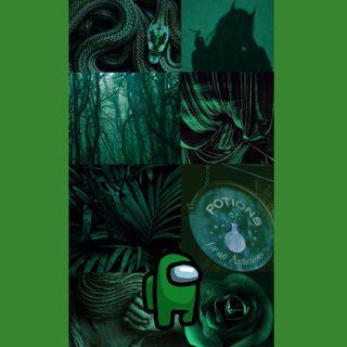 Обои на телефон зеленые, амонг, among us green