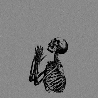 Обои на телефон скелет, страшные, духовные, skeleton praying