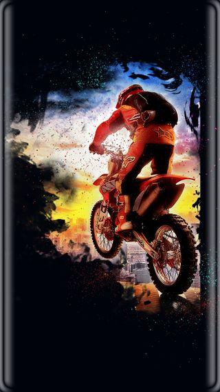 Обои на телефон черные, спорт, мотокросс, красочные, грани, s7 edge, s7