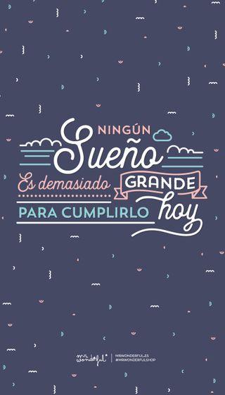 Обои на телефон фраза, замечательный, ningun sueno es, motivacional, inspiracion