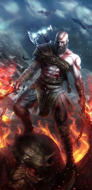 Обои на телефон пс4, кратос, игра, война, бог, xbox, ps4, kratos god of war, godofwar