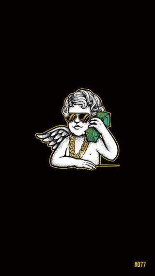 Обои на телефон трэп, логотипы, золотые, деньги, беседа, ангел, money talk, call, bonagfx, bona