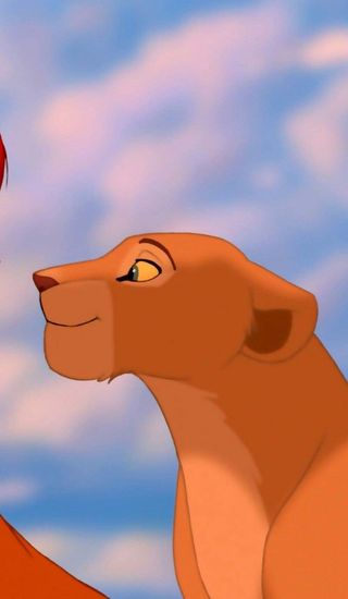Обои на телефон леон, rey leon, pareja, fondo, compartido